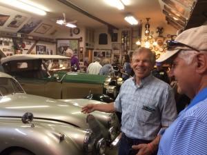 Brad and Deny in Car barn