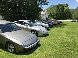 9 cars on green